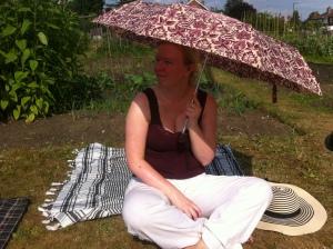 Lindsey enjoying the sun.